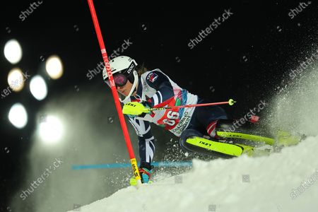 Laurie Taylor of Great Britain races down the course during the Audi FIS Alpine Ski World Cup Slalom race on in Schladming, Austria