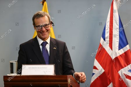 Permanent Under-Secretary at the Foreign and Commonwealth Office and Head of the Diplomatic Service of Britain, Simon McDonald, smiles during a press conference in Quito, Ecuador, 28 January 2020. Britain never promised that it would not extradite WikiLeaks founder Julian Assange to a country with death penalty, said Simon McDonald, Permanent Under-Secretary of the Ministry of Foreign Affairs of the European country, in Quito. 'We never said we would not extradite Assange to a country that has a death penalty. What we did say is that we would never extradite Assange if there was a danger that he would face a death penalty', he said.