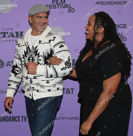 Stock Photo of Christopher Jackson and Aneesa Folds