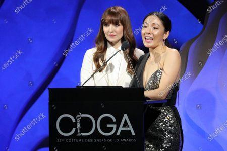 Stock Image of Lorene Scafaria and Constance Wu