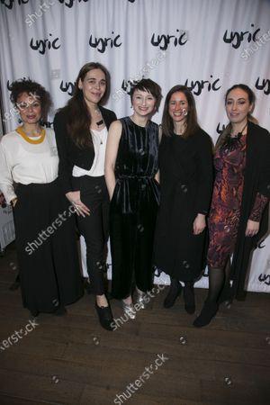 Alicia Charles (Violet/Marie), Chris Bush (Author), Jodie McNee (Johanna Faustus), Caroline Byrne (Director) and Ana Ines Jabares-Pita (Designer)