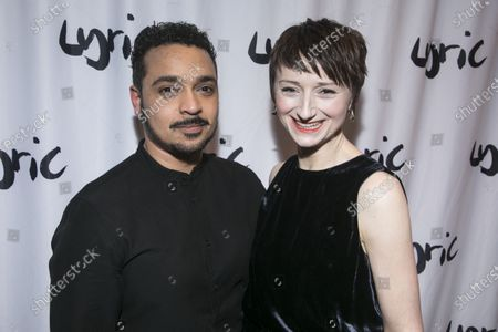 Stock Picture of Danny Lee Wynter (Mephistopheles) and Jodie McNee (Johanna Faustus)