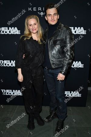 Stock Picture of Aimee Mullins and Rupert Friend