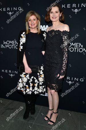 Arianna Huffington and Geena Davis
