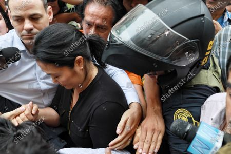Keiko Fujimori Higuchi leaves her home, in San Borja, Peru, 28 January 2020, for the courthouse to hear the decision of Judge Victor Zuniga Urday from the Fourth National Preparatory Investigation Court of the Superior Specialized Court in Organized Crime and Corruption of Officials, who will decide whether to accept or reject the request for 18 months and two days of preventive detention requested by Public Prosecutor Jose Domingo Perez for alleged money laundering and obstruction of justice.