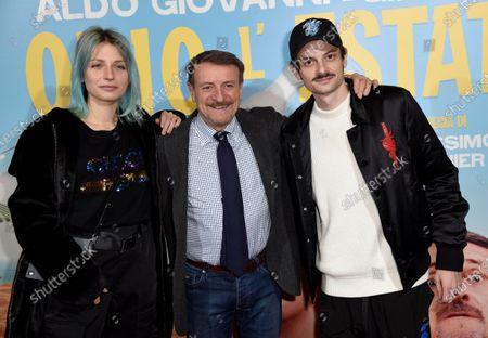 Karen Kokeshi, Fabio Rovazzi and Giacomo Poretti