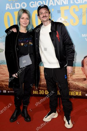 Editorial image of 'Odio l'estate' film premiere, The Space Cinema, Milan, Italy - 28 Jan 2020