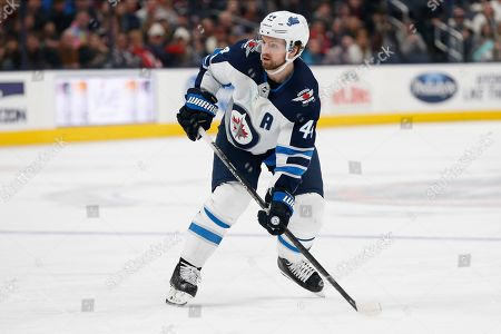 Winnipeg Jets' Josh Morrissey plays against the Columbus Blue Jackets during an NHL hockey game, in Columbus, Ohio