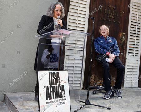 Gina Belafonte and Ken Kragen