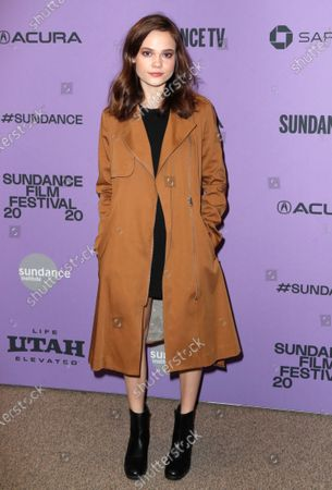 Oona Laurence arrives for the premiere of 'Lost Girls' at the 2020 Sundance Film Festival in Park City, Utah, USA, 28 January 2020. The festival runs from the 22 January to 02 February 2020.