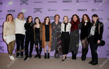 Amy Nauiokas, Mandy Beckner, Miriam Shor, Molly Brown, Oona Laurence, Anne Carey, Amy Ryan, Director Liz Garbus, Lola Kirke and Anne Nikitin arrive for the premiere of 'Lost Girls' at the 2020 Sundance Film Festival in Park City, Utah, USA, 28 January 2020. The festival runs from the 22 January to 02 February 2020.