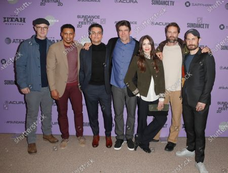 Brian F. O'Byrne, Will Dalton, Wagner Moura, Director Greg Barker, Alice Assef, Garret Dillahunt and Clemens Schick arrive for the premiere of 'Sergio' at the 2020 Sundance Film Festival in Park City, Utah, USA, 28 January 2020. The festival runs from the 22 January to 02 February 2020.