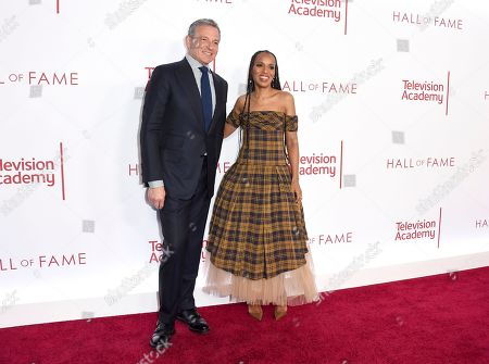 Robert Iger, Kerry Washington. Robert Iger, Chief Executive Officer of Disney, and Kerry Washington attend the 25th Television Academy Hall of Fame on at the Television Academy's Saban Media Center in North Hollywood, Calif