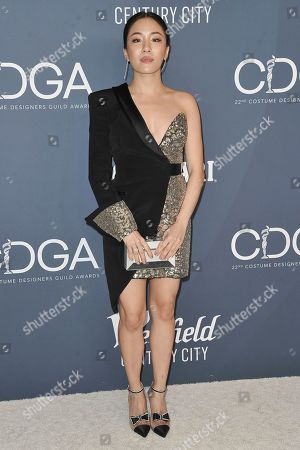 Constance Wu attends the 22nd Annual Costume Designers Guild Awards at the Beverly Hilton Hotel, in Beverly Hills, Calif