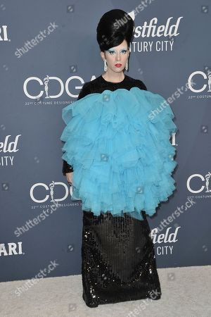 B. Akerlund attends the 22nd Annual Costume Designers Guild Awards at the Beverly Hilton Hotel, in Beverly Hills, Calif