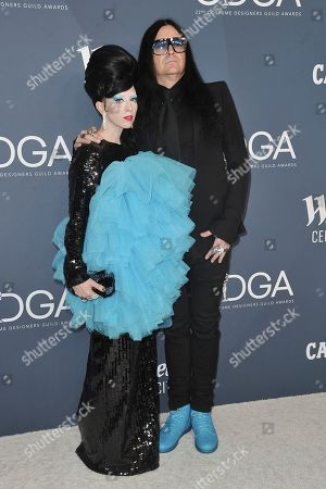 B. Akerlund and Jonas Akerlund. B. Akerlund, left, and Jonas Akerlund attend the 22nd Annual Costume Designers Guild Awards at the Beverly Hilton Hotel, in Beverly Hills, Calif