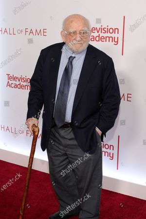 Stock Picture of Ed Asner poses on the red carpet prior to the Television Academy Hall of Fame induction ceremony, in Los Angeles, California, USA, 28 January 2020.