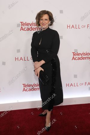 Former Co-Chair Disney Media Network Anne Sweeney poses on the red carpet prior to the Television Academy Hall of Fame induction ceremony, in Los Angeles, California, USA, 28 January 2020.
