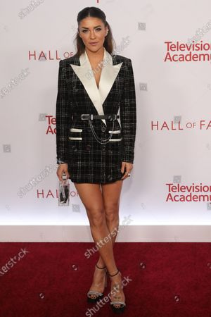 Jessica Szohr poses on the red carpet prior to the Television Academy Hall of Fame induction ceremony, in Los Angeles, California, USA, 28 January 2020.
