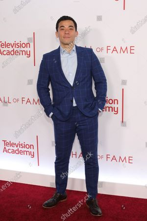 Conrad Ricamora poses on the red carpet prior to the Television Academy Hall of Fame induction ceremony, in Los Angeles, California, USA, 28 January 2020.