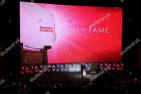 Robert Iger, Chief Executive Officer of Disney, is inducted into the Television Academy Hall of Fame on at the Television Academy's Saban Media Center in North Hollywood, Calif