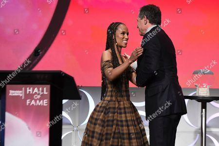 Kerry Washington, Robert Iger. Kerry Washington, left, presents Robert Iger, Chief Executive Officer of Disney, as he is inducted into the Television Academy Hall of Fame on at the Television Academy's Saban Media Center in North Hollywood, Calif