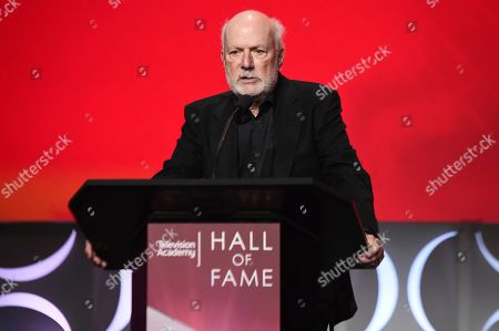 James Burrows speaks at the 25th Television Academy Hall of Fame on at the Television Academy's Saban Media Center in North Hollywood, Calif