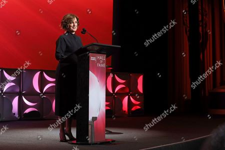 Anne Sweeney speaks at the 25th Television Academy Hall of Fame on at the Television Academy's Saban Media Center in North Hollywood, Calif