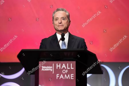 Stock Picture of Rick Rosen speaks at the 25th Television Academy Hall of Fame on at the Television Academy's Saban Media Center in North Hollywood, Calif