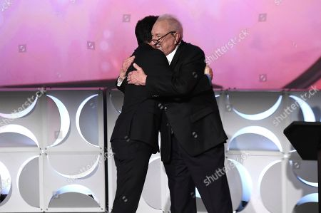 Seth MacFarlane, Don Mischer. Don Mischer, right, presents Seth MacFarlane as he is inducted into the Television Academy Hall of Fame on at the Television Academy's Saban Media Center in North Hollywood, Calif