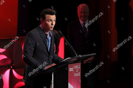 Seth MacFarlane is inducted into the Television Academy Hall of Fame on at the Television Academy's Saban Media Center in North Hollywood, Calif