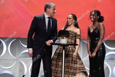 Kerry Washington, Robert Iger. Kerry Washington, right, presents Robert Iger, Chief Executive Officer of Disney, as he is inducted into the Television Academy Hall of Fame on at the Television Academy's Saban Media Center in North Hollywood, Calif
