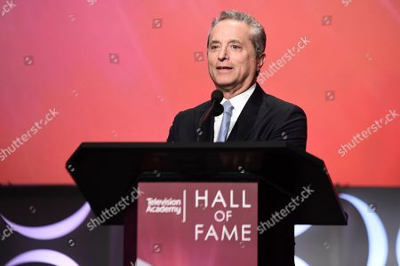 Stock Image of Rick Rosen speaks at the 25th Television Academy Hall of Fame on at the Television Academy's Saban Media Center in North Hollywood, Calif
