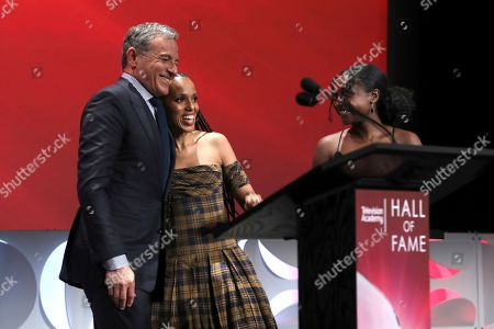 Kerry Washington, Robert Iger. Kerry Washington, right, presents Robert Iger, Chief Executive Officer of Disney, as he is inducted into the Television Academy Hall of Fame at the 25th Television Academy Hall of Fame on at the Television Academy's Saban Media Center in North Hollywood, Calif