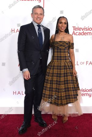 Robert A. Iger and Kerry Washington