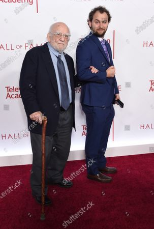 Stock Photo of Ed Asner and grand nephew Zander Edelman