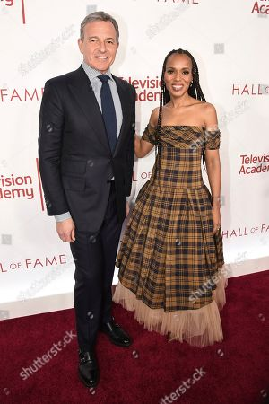 Robert Iger, Kerry Washington. Robert Iger, Chief Executive Officer of Disney, left, and Kerry Washington attends the 25th Television Academy Hall of Fame on at the Television Academy's Saban Media Center in North Hollywood, Calif