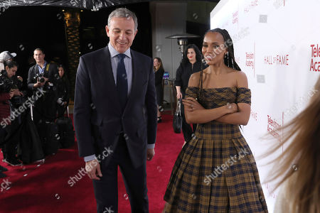 Robert Iger, Kerry Washington. Robert Iger, Chief Executive Officer of Disney, left, and Kerry Washington attend the 25th Television Academy Hall of Fame on at the Television Academy's Saban Media Center in North Hollywood, Calif