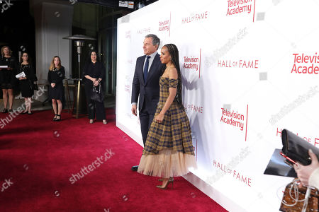 Stock Photo of Robert Iger, Kerry Washington. Robert Iger, Chief Executive Officer of Disney, left, and Kerry Washington attend the 25th Television Academy Hall of Fame on at the Television Academy's Saban Media Center in North Hollywood, Calif