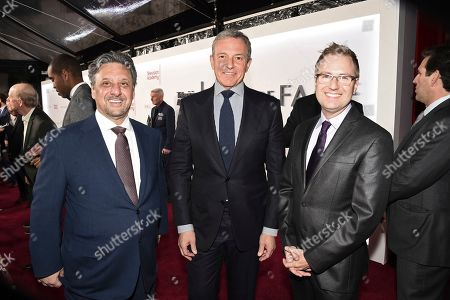 Frank Scherma, Robert Iger, Maury McIntyre. Frank Scherma, Chairman and CEO of the Television Academy, from left, Robert Iger, Chief Executive Officer of Disney, and Maury McIntyre, President and Chief Operating Officer of the Television Academy, attend the 25th Television Academy Hall of Fame on at the Television Academy's Saban Media Center in North Hollywood, Calif