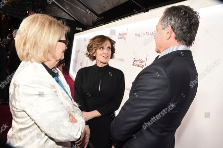 Geraldine B. Laybourne, Anne Sweeney, Robert Iger. Geraldine B. Laybourne, from left, Anne Sweeney and Robert Iger, Chief Executive Officer of Disney, attend the 25th Television Academy Hall of Fame on at the Television Academy's Saban Media Center in North Hollywood, Calif