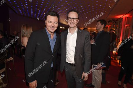 Seth MacFarlane, Peter Rice. Seth MacFarlane, left, and Peter Rice attend the 25th Television Academy Hall of Fame on at the Television Academy's Saban Media Center in North Hollywood, Calif