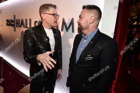 Stock Picture of Bob Bergen, Scott Buford. Bob Bergen, left, and Scott Buford attend the 25th Television Academy Hall of Fame on at the Television Academy's Saban Media Center in North Hollywood, Calif