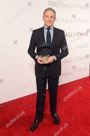 Stock Picture of Inductee Robert Iger, Chief Executive Officer of Disney, poses for a portrait at 25th Television Academy Hall of Fame at the Saban Media Center on at the Television Academy's Saban Media Center in North Hollywood, Calif