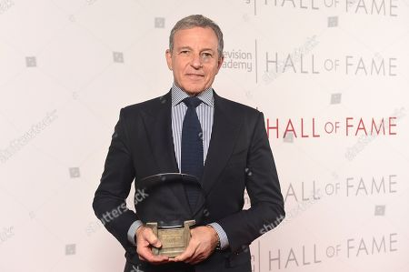 Inductee Robert Iger, Chief Executive Officer of Disney, poses for a portrait at 25th Television Academy Hall of Fame at the Saban Media Center on at the Television Academy's Saban Media Center in North Hollywood, Calif