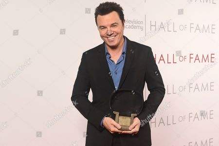 Stock Image of Inductee Seth MacFarlane poses for a portrait at 25th Television Academy Hall of Fame at the Saban Media Center on at the Television Academy's Saban Media Center in North Hollywood, Calif