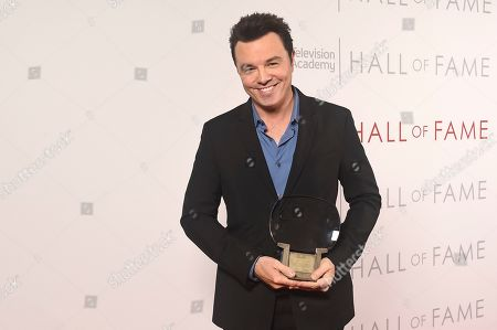 Inductee Seth MacFarlane poses for a portrait at 25th Television Academy Hall of Fame at the Saban Media Center on at the Television Academy's Saban Media Center in North Hollywood, Calif