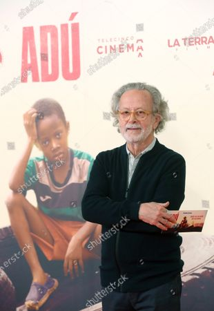 Fernando Colomo poses as he arrives to the presentation of the film 'Adu' in Madrid, Spain, 28 January 2020 (issued 29 January 2020).  The film, directed by Spanish director Salvador Calvo, narrates the drama behind migration in Melilla, Spanish enclave on the north of Africa.