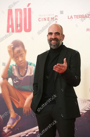 Spanish cast actor Luis Tosar poses as he arrives to the presentation of the film 'Adu' in Madrid, Spain, 28 January 2020 (issued 29 January 2020).  The film, directed by Spanish director Salvador Calvo, narrates the drama behind migration in Melilla, Spanish enclave on the north of Africa.