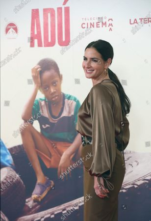 Belen Lopez poses as she arrives to the presentation of the film 'Adu' in Madrid, Spain, 28 January 2020 (issued 29 January 2020).  The film, directed by Spanish director Salvador Calvo, narrates the drama behind migration in Melilla, Spanish enclave on the north of Africa.